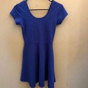Blue scuba knit skater dress size small